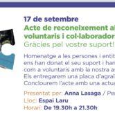 Acte De Reconeixement A Voluntaris I Col·laboradors De L'AFAM